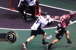 John Grant Jr. NLL Behind the Back One Handed Bounce Goal