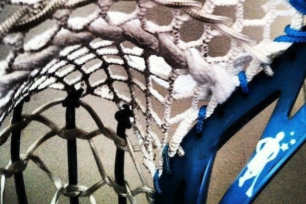 Half Traditional Half Mesh Lacrosse Pocket