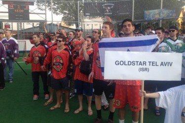 Team Goldstar Tel Aviv at Ales Hrebesky box lacrosse tournament