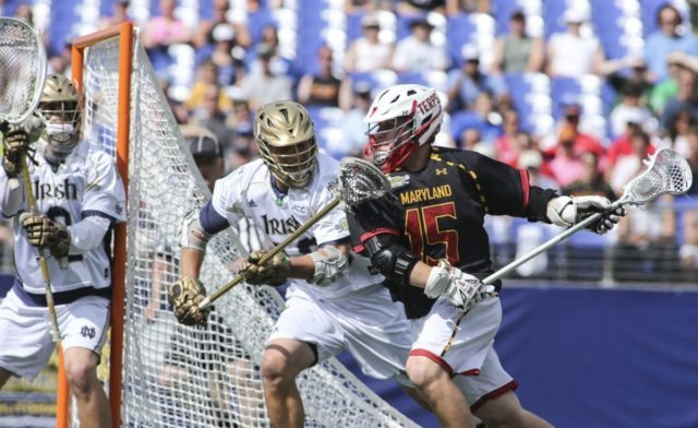 Notre Dame vs. Maryland Men's Lacrosse 2014 NCAA National Championship Semi-Final Photo Credit: Tommy Gilligan O'Keefe, Loftus Lead In Your Face Awards to End February