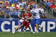 Duke vs Denver mens lacrosse 2014 Final Four NCAA Championships Photo Credit: Tommy Gilligan helmetgate