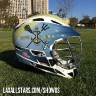 Jeremy Vellon Navy Gold lacrosse helmet