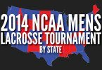 USA Map 2014 mens lacrosse national championship tournament breakdown by state