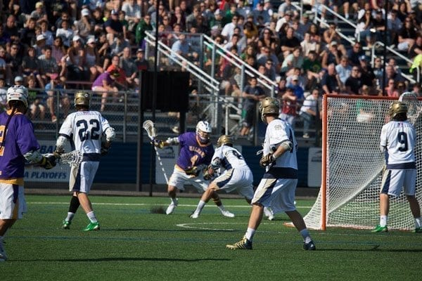Notre Dame vs Albany Lacrosse 2014 NCAA Quarterfinal Credit: Joe Williams college lacrosse shot clock