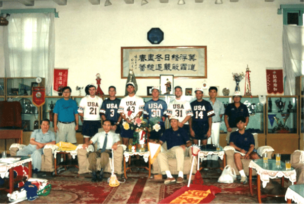 Team USA in china 1992 vintage lacrosse