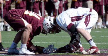 Boys' Latin Lacrosse Faceoff
