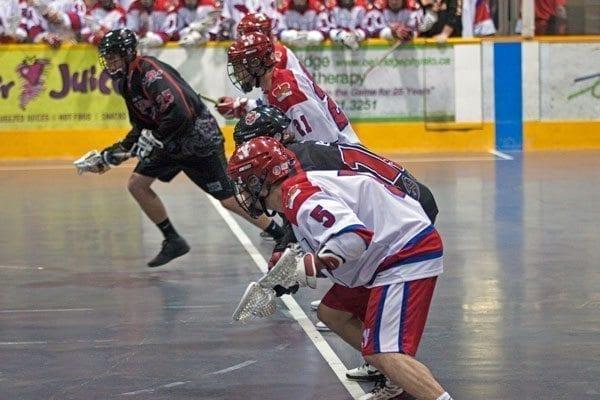 New Westminster Salmonbellies vs. Delta Islanders BCJALL Box Lacrosse
