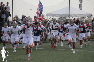 Team USA storming the field in 2014
