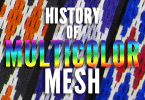 History of multicolor lacrosse mesh