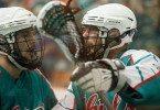 Six Nations Chiefs vs Victoria Shamrocks 2014 Mann Cup box lacrosse Credit: Vintage Lax