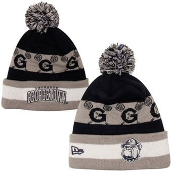 New Era Georgetown Hoyas The Jake Lacrosse Knit Hat - Navy Blue/Gray