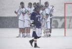 snow lacrosse photos Loyola holy cross getting warmer