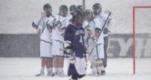 snow lacrosse photos Loyola holy cross getting warmer