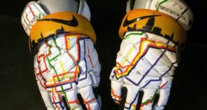 Kacy Small NYC Subway CityLax gala gloves