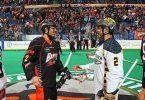 Miles and Jerome Hiana Thompson Minnesota Swarm vs Buffalo Bandits NLL Photo Credit Bill Whippert