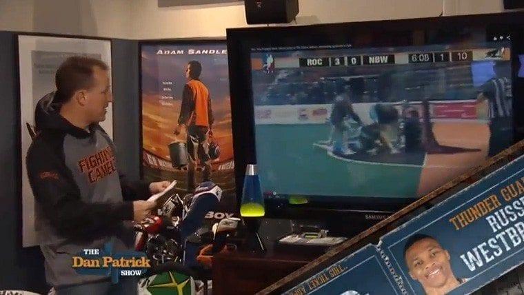 spotted dan patrick box lacrosse fight