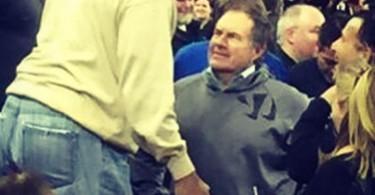 Bill Belichick Wearing Warrior Hoodie at Kentucky Basketball Game