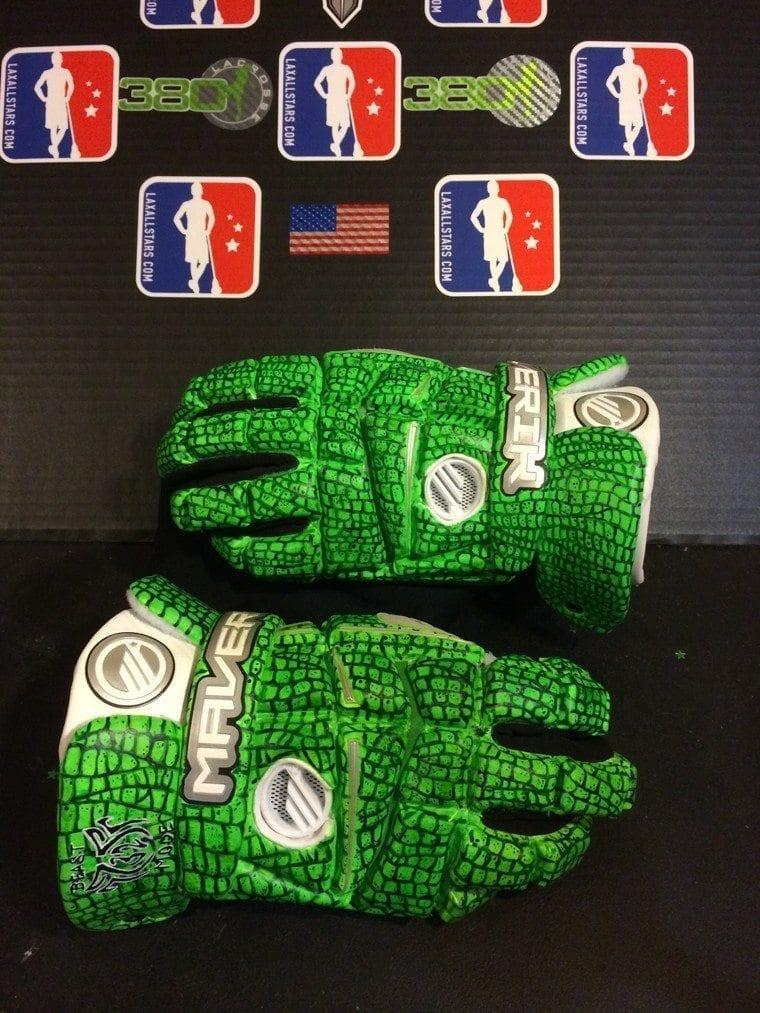 Greg Gurenlian CruzWorldCustoms custom lacrosse gloves Beast Mode, New York Lizards