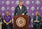 John Desko of Syracuse announcing World Indoor Lacrosse Championships WILC 2015 heading to Onondaga Nation