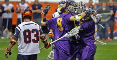 Syracuse lacrosse vs UAlbany 2015 credit Jeff Melnik NCAA Division I late season lacrosse polls