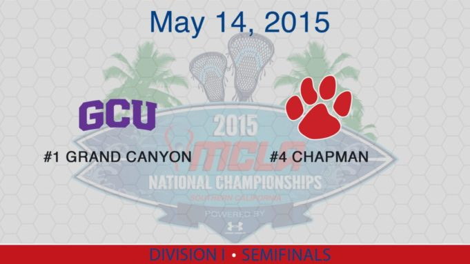 2015 MCLA Final Four: Grand Canyon vs Chapman