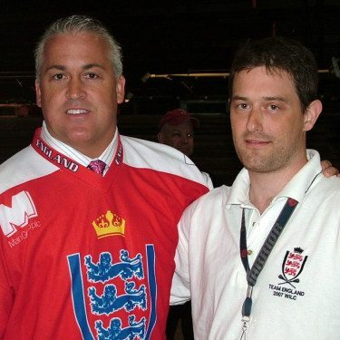 England lacrosse with Gary Gait 2007