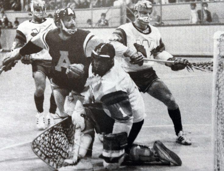 1965 Coquitlam Adanacs vs New Westminster Salmonbellies in Vancouver, Canada