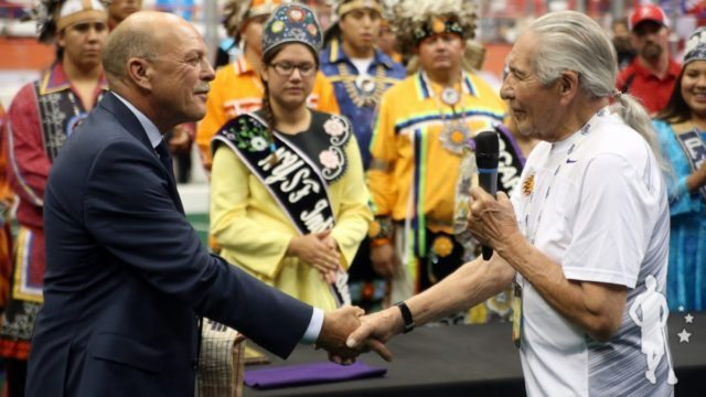 Oren Lyons Stan Cockerton Canada Wins WILC 2015 Over the Iroquois Nationals The Creator's Game