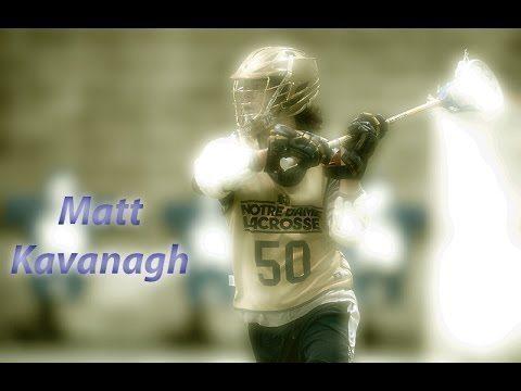 Notre Dame lacrosse player Matt Kavanaugh in action.