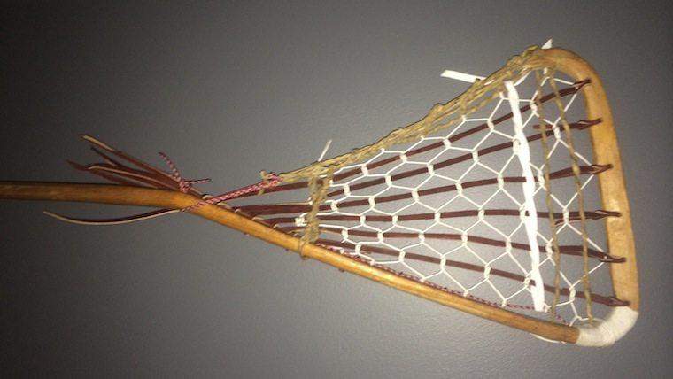 Old Wooden Goalie Stick Traditional Thursday Lacrosse All Stars