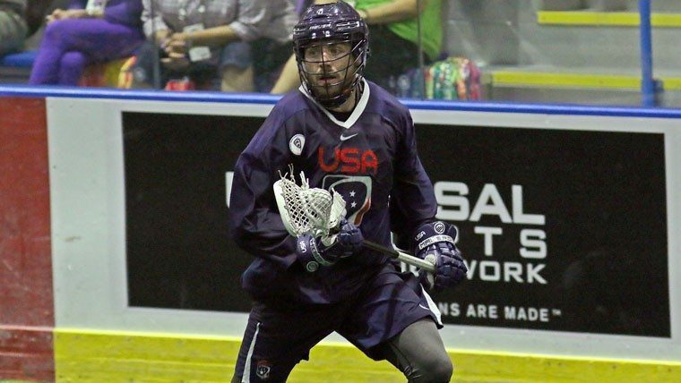Chris O'Dougherty Team USA Indoor Box Lacrosse USA Vs Canada