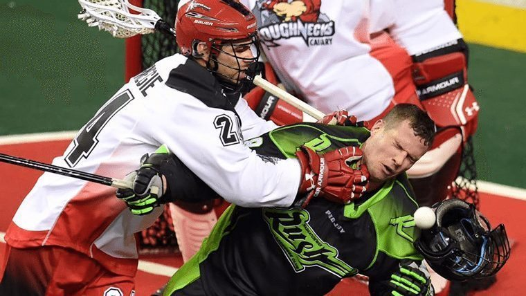 Saskatchewan Rush Zack Greer Calgary Roughnecks