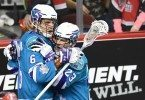 Rochester Knighthawks at Calgary Roughnecks NLL 2016 Photo: Candice Ward