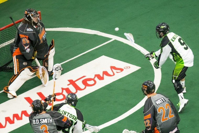 Saskatchewan Rush Buffalo Bandits 2016 NLL Photo by Josh Schaefer/Saskatchewan Rush