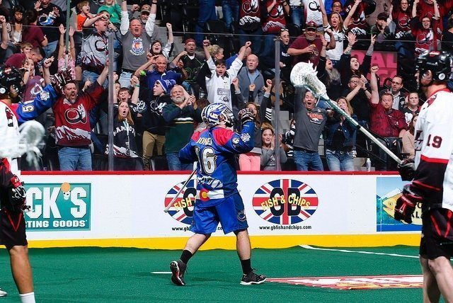 Adam Jones Vancouver Stealth at Colorado Mammoth 2015 NLL Photo: Jack Dempsey