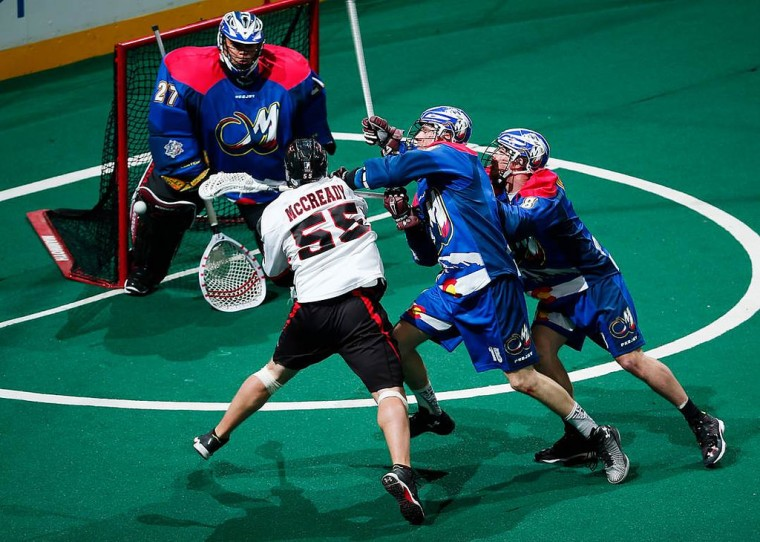 Joel McCready Vancouver Stealth at Colorado Mammoth 2015 NLL Photo: Jack Dempsey