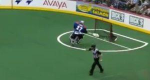 own goal Colorado Mammoth goalie Alex Buque own goal missed call