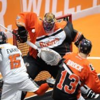 Buffalo Bandits New England Black Wolves Anthony Cosmo Shawn Evans NLL 2016 Playoffs Photo: Khoi Ton