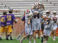 Syracuse Orange UAlbany Great Danes Lacrosse NCAA 2016 Photo: Jeff Melnik