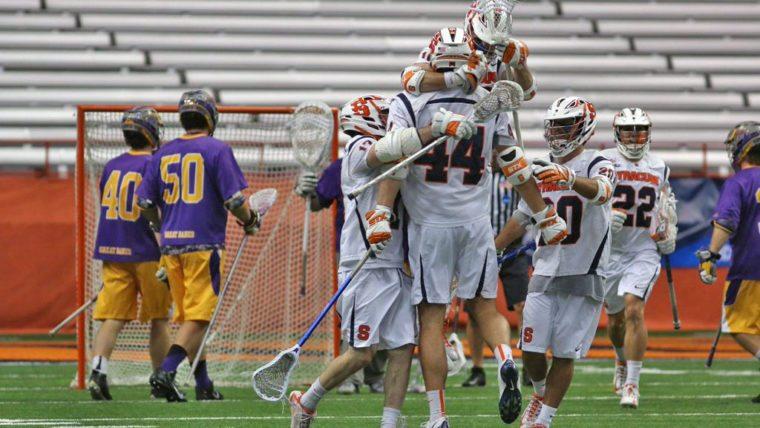 college lax video Syracuse Orange UAlbany Great Danes Lacrosse NCAA 2016 Photo: Jeff Melnik