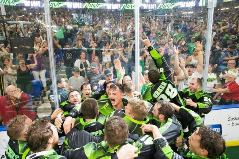Saskatchewan Rush 2016 National Lacrosse League Champions Champion's Cup Photo: Josh Schaefer