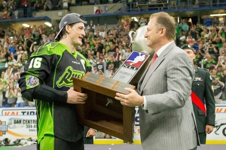 Saskatchewan Rush 2016 NLL Champions Champion's Cup Photo: Josh Schaefer