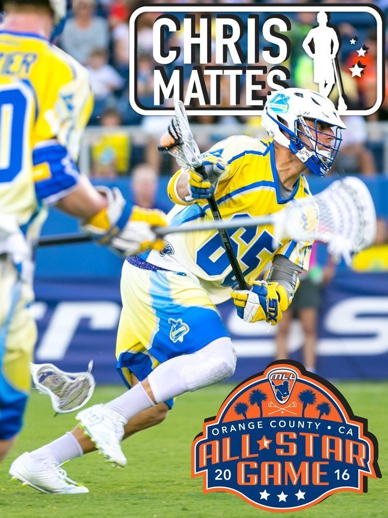 CHRIS MATTES - major league lacrosse all stars by brand