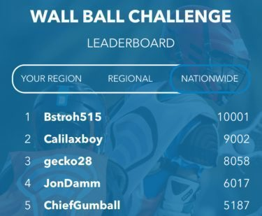 First to 10,000 - Bstroh515 - USL Wall Ball app