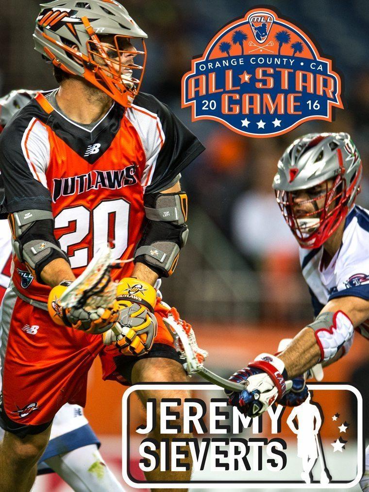 JEREMY SIEVERTS - major league lacrosse all stars by brand