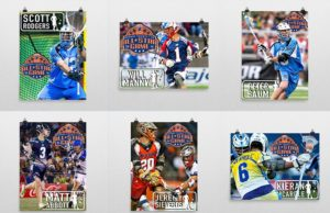 Commemorative posters for the 2016 Major League Lacrosse All Star Game