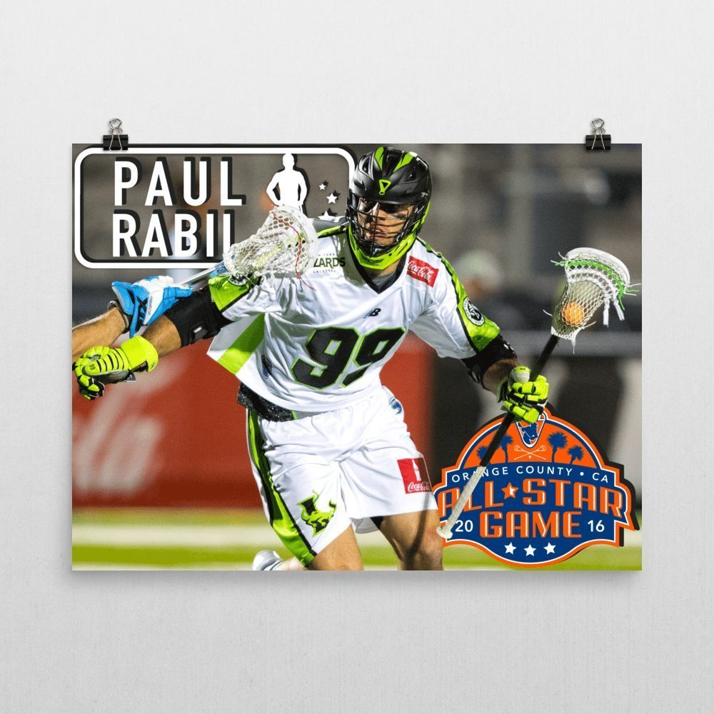 PAUL RABIL 2016 MLL All Star Posters