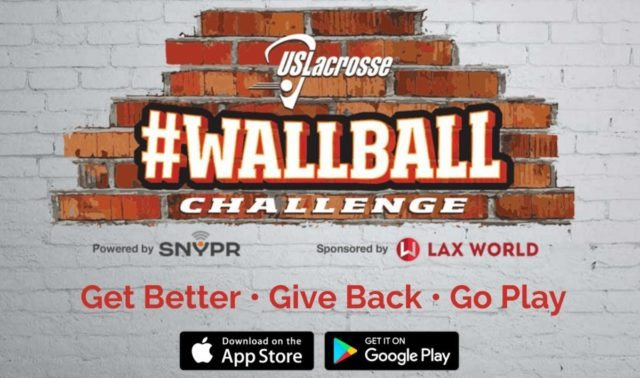 USL WALL BALL app - US Lacrosse #WallBallChallenge