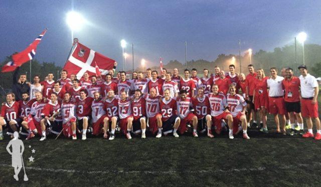 The Dansk Lacrosse Men's National Team copenhagen lacrosse