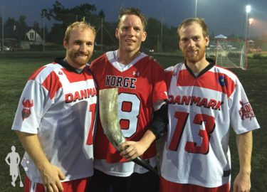 Denmark Lacrosse Men's National Team with Norway